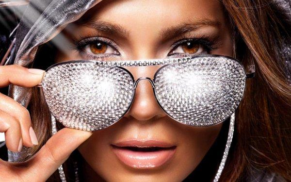 Women Brown Eyes Jennifer Lopez Sunglasses Singers Faces