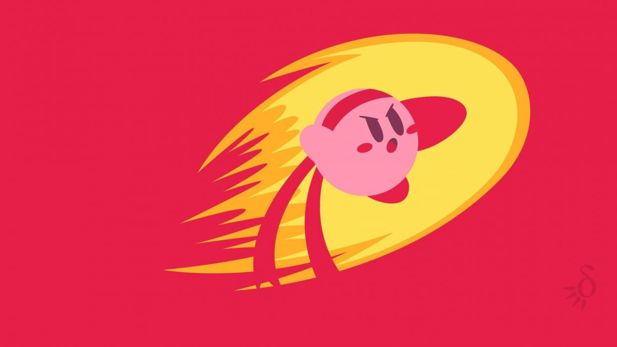 Kirby Video Games Red Simple Fighter Wallpaper 1920x1080