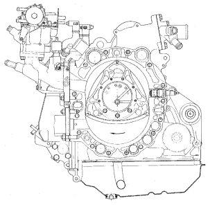 Birotor Cutaway Wankel Engine wallpaper | 3033x3000