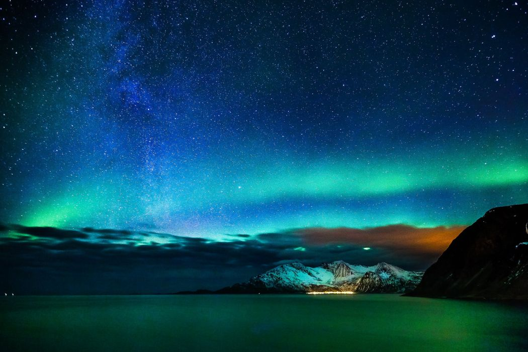 Dark Wallpapers Hd Alaska Aurora Aurora Borealis Northern Lights Nature Sky