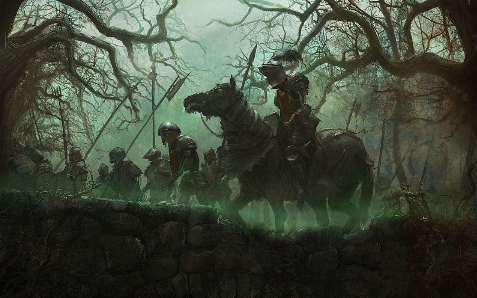 Horror undead fantasy warrior wallpaper  1920x1200