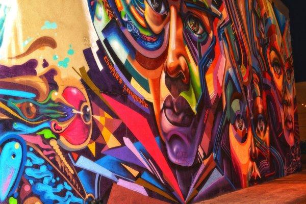 Los Angeles Graffiti Wall Art