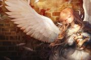 angels girl wing feathers curly