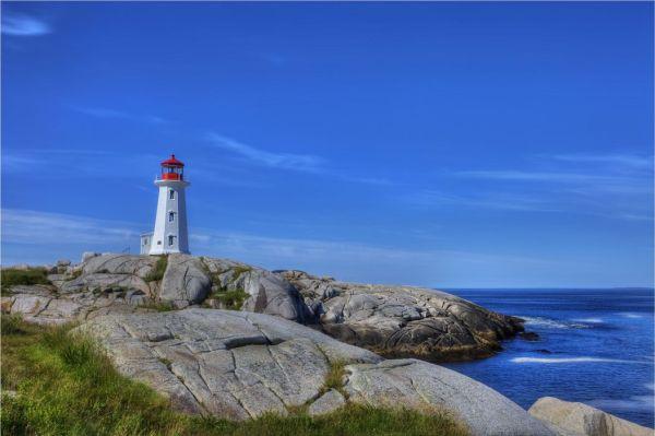 sea rocks lighthouse landscape