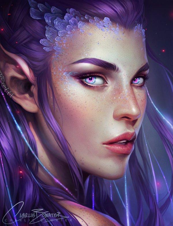 Beautiful Digital Female Elf Art