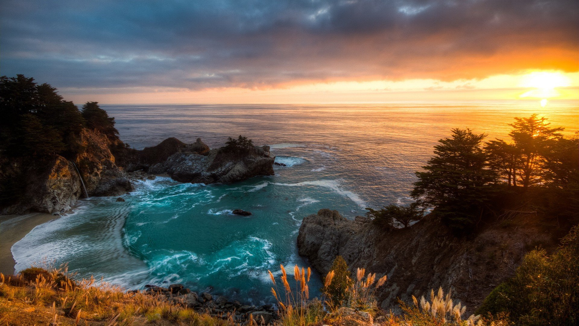 Victoria Falls Wallpapers High Resolution Sunset Mcway Falls California Wallpaper 1920x1080