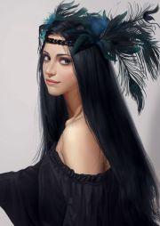 art fantasy long hair girl beautiful