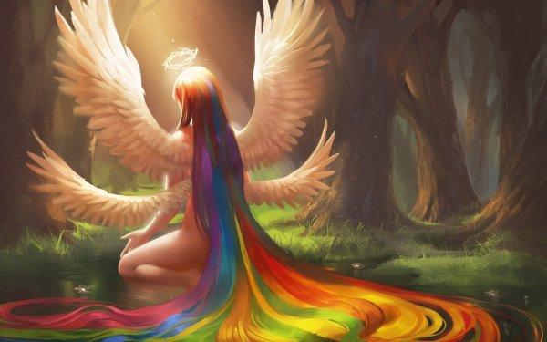Angel Rainbow Art
