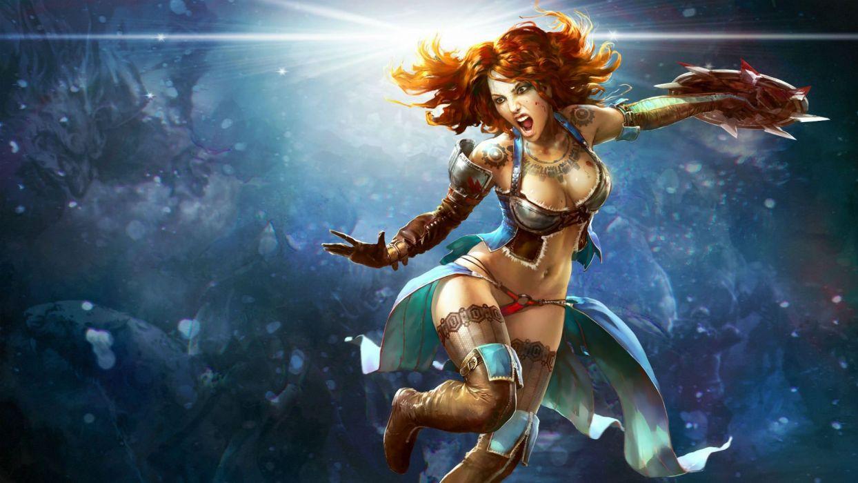 Pin Up Girl 4k Wallpaper Prime World Fantasy Mmo Rpg Online Action Fighting