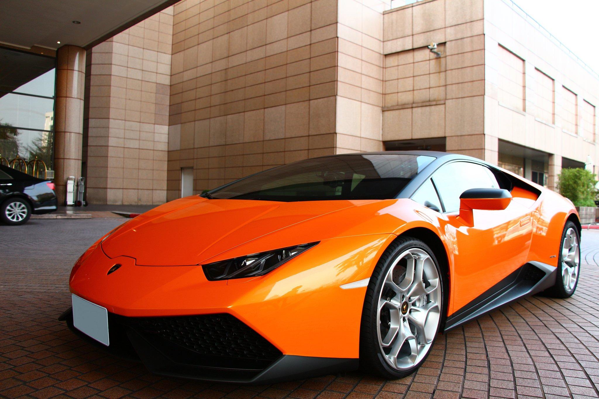 2016 Orange Lamborghini Huracan Wallpapers Hd 17770 Full Hd 2016