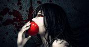 original anime red apple eyes