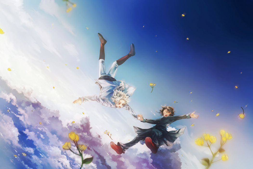 Beautiful Baby Girl Hd Wallpapers 1080p Anime Fly Boys Flower Sky Clouds Wallpaper 2800x1865