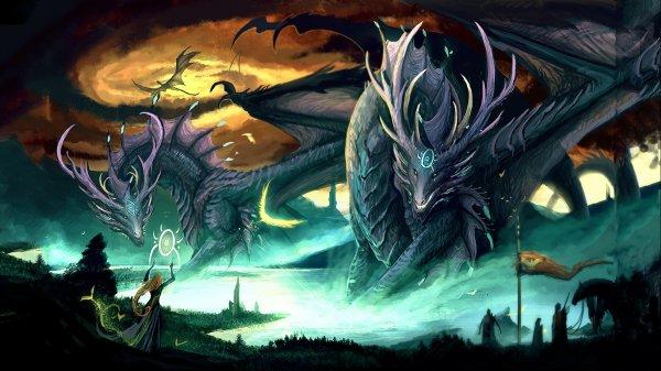 Dragon Fantasy Artwork Art Dragons Wallpaper 2560x1440 650369 Wallpaperup