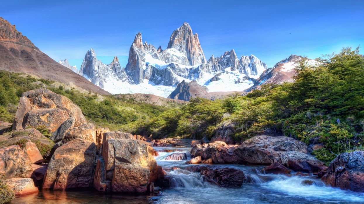 Cars Wallpapers In Full Hd Mountains Landscape Nature Mountain River Snow Wallpaper