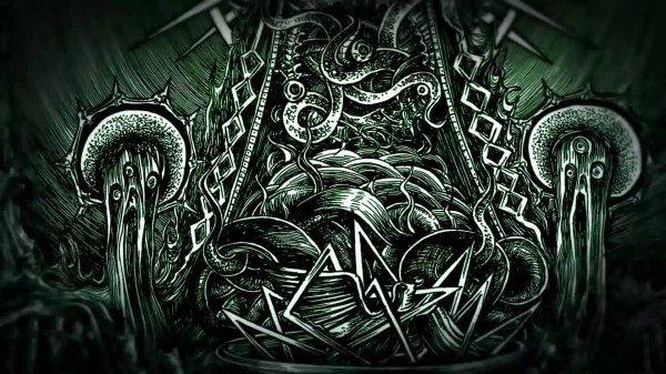 Drawing Dark Evil Psychedelic Art
