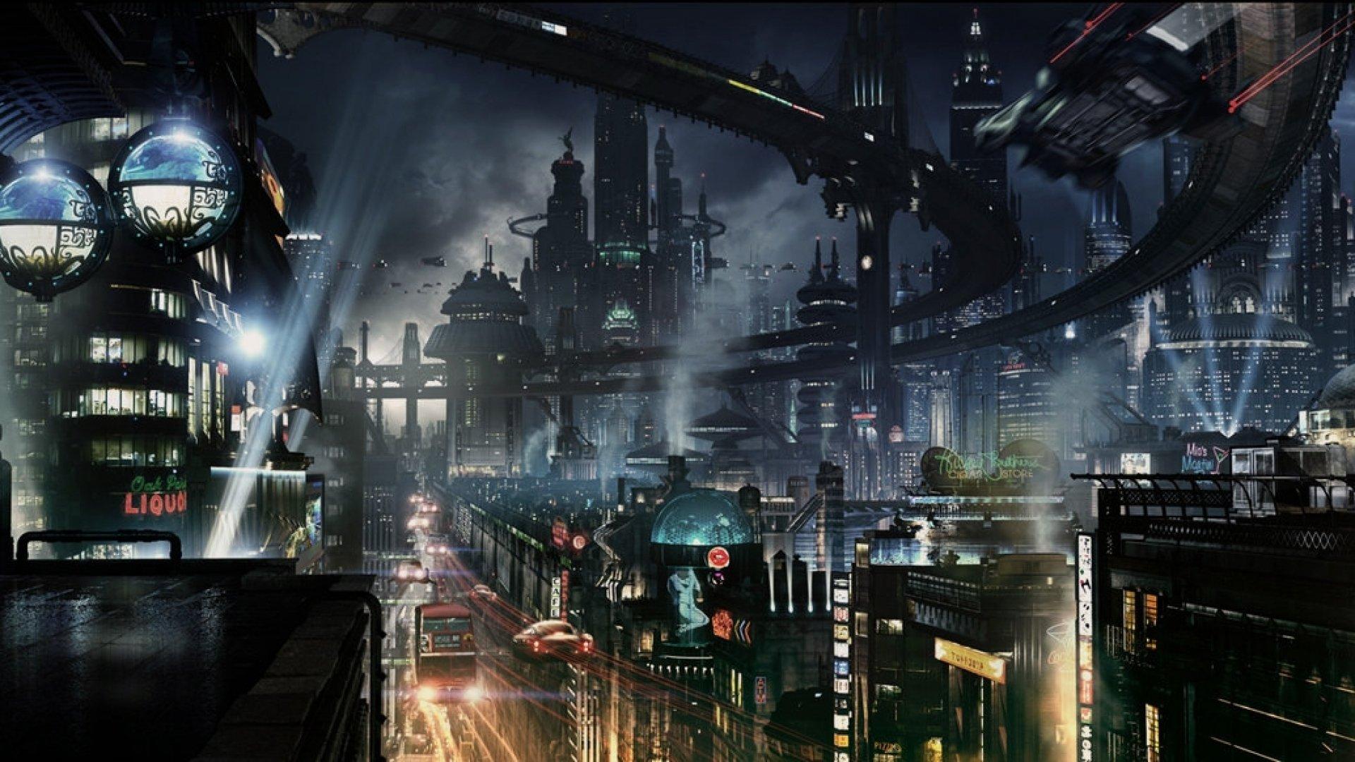 Futurist Anime Girl Wallpaper Sci Fi Futuristic City Cities Art Artwork Wallpaper