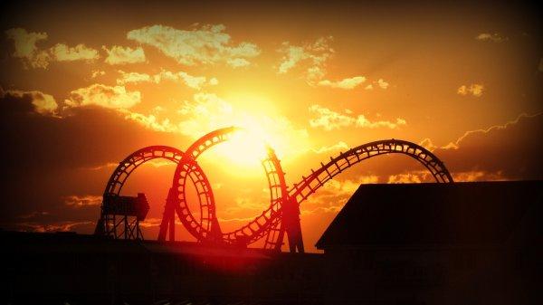 Roller Coaster Amusement Park Fun Rides 1roll Adventure Summer Wallpaper 2800x1574 663407