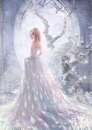 dress white long hair beautiful