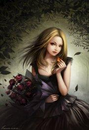 dress long hair beautiful girl