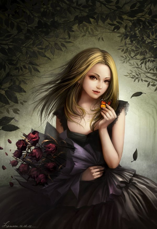Beautiful Gothic Digital Art Girl Pics