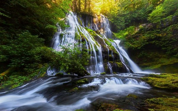 waterfall river landscape nature