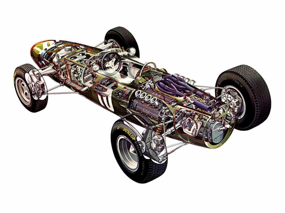2015 Sports Cars Wallpaper Formula One Sportcars Cutaway Technical Brm P261 1964