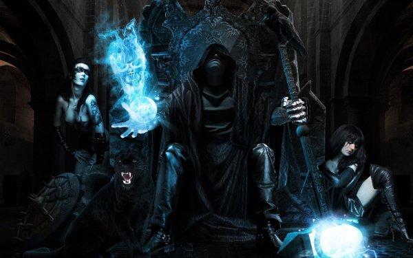 Fantasy Mage Wizard Sorcerer Art Artwork Magic Magician Wallpaper 2560x1600 685405 Wallpaperup