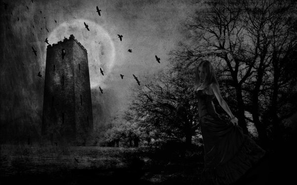 Dark Gothic Art Artwork Fantasy Wallpaper 1920x1200