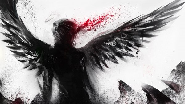 Dark Fantasy Angel Art Artwork Evil Wallpaper 2560x1440 695527 Wallpaperup