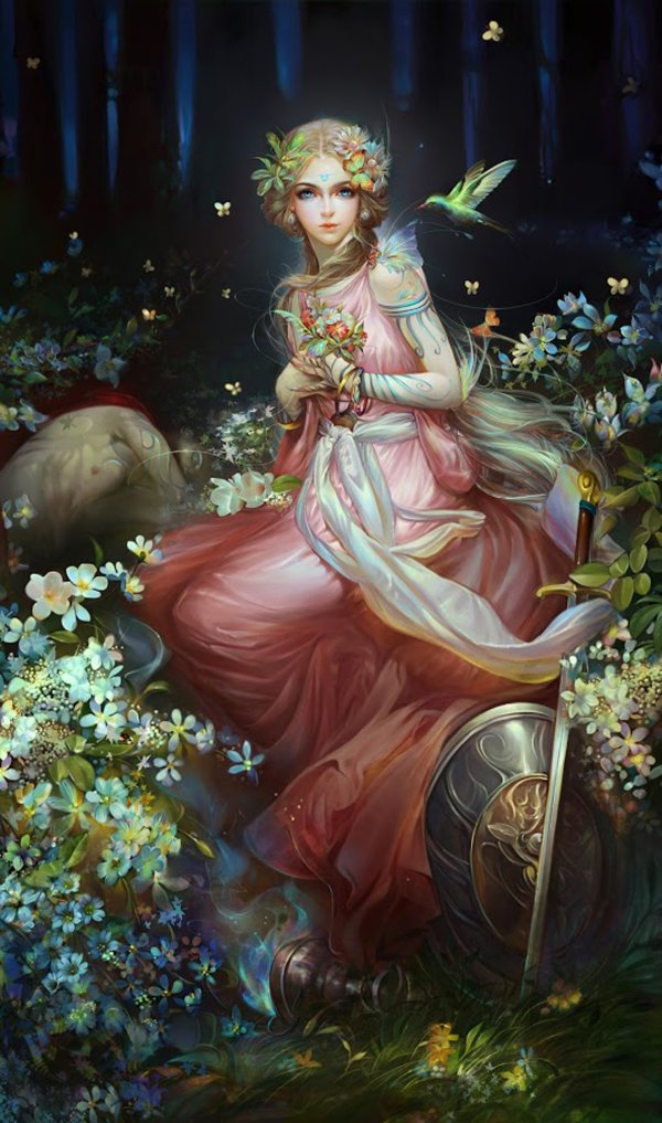 Fantasy Girl Flower Fairy Dress Beautiful Wallpaper 1440x2441 714386 Wallpaperup