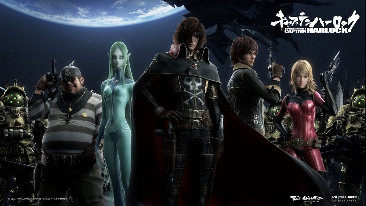 3d Wallpaper Picture Download Space Pirate Captain Harlock Fantasy Pirates Adventure