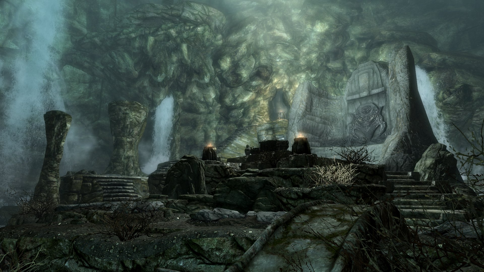 Forest Hd Live Wallpaper For Pc The Elder Scrolls V Skyrim Waterfall Nordic Ruins