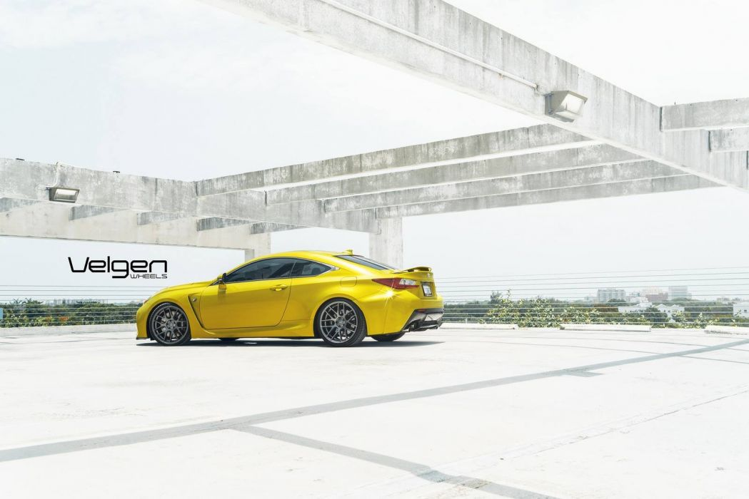 Lexus Rc F Velgen Wheels Cars Coupe Modified Wallpaper 1600x1068