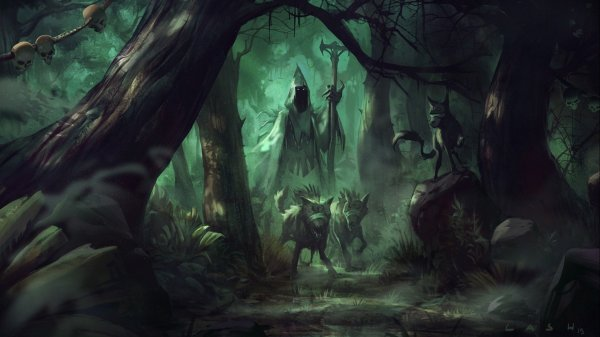 Fantasy Artork Witch Wizard Sorcerer Magic Evil Wallpaper
