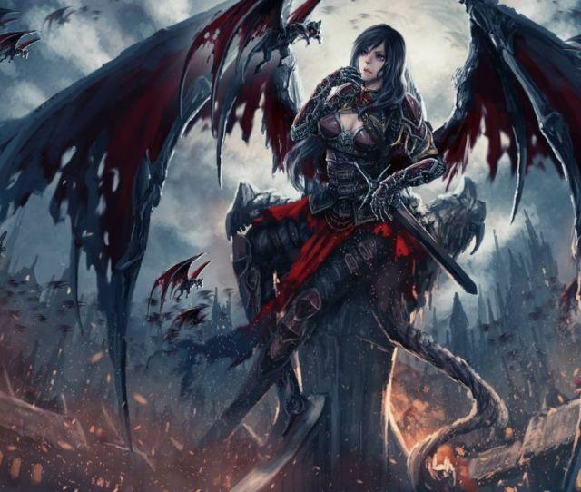 Fantasy Art Artwork Demon Evil Angel Wallpaper