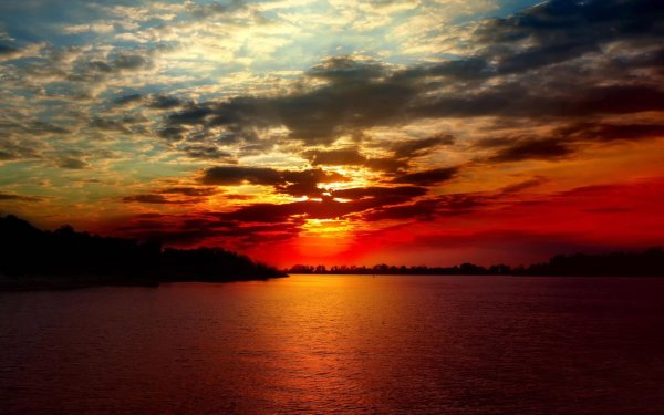 Sea Ocean Sunset Amazing Sky Clouds Landscape Beauty Wallpaper 1920x1200 801153 Wallpaperup
