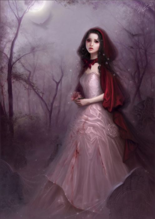 Beautiful Anime Girl Fantasy Forest Wallpaper Beautiful Fantasy Girl Forest Rose Dress Long Hair