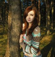 red hair beautiful girl model woman