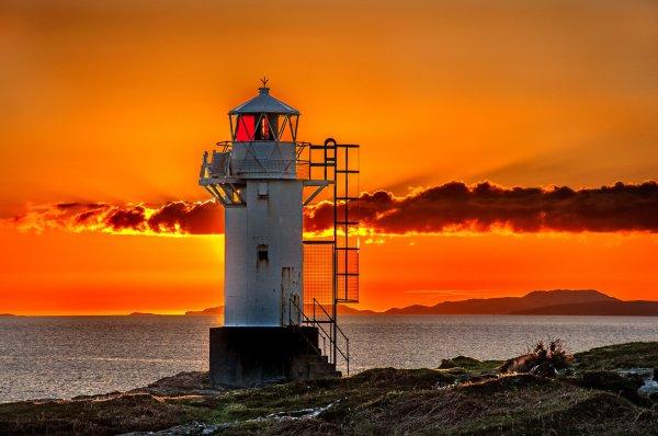 sunset sun sky clouds sea beach