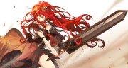 anime girl beautiful angry brown