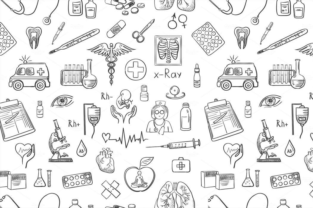 Medical biology detail medicine psychedelic science