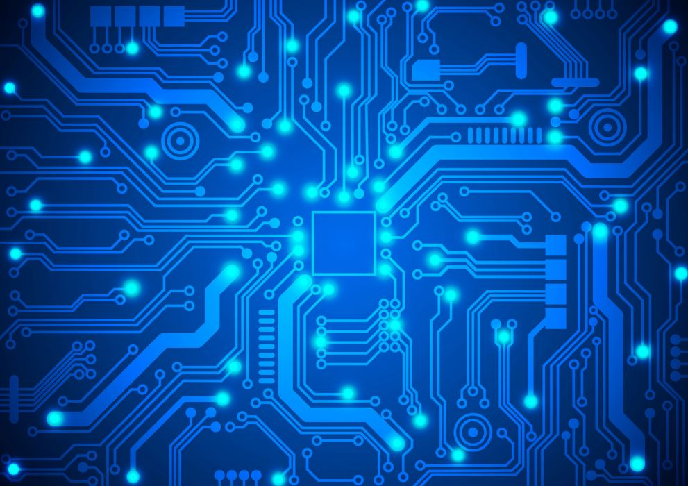 ELECTRONICS machine technology circuit electronic computer technics detail psychedelic abstract