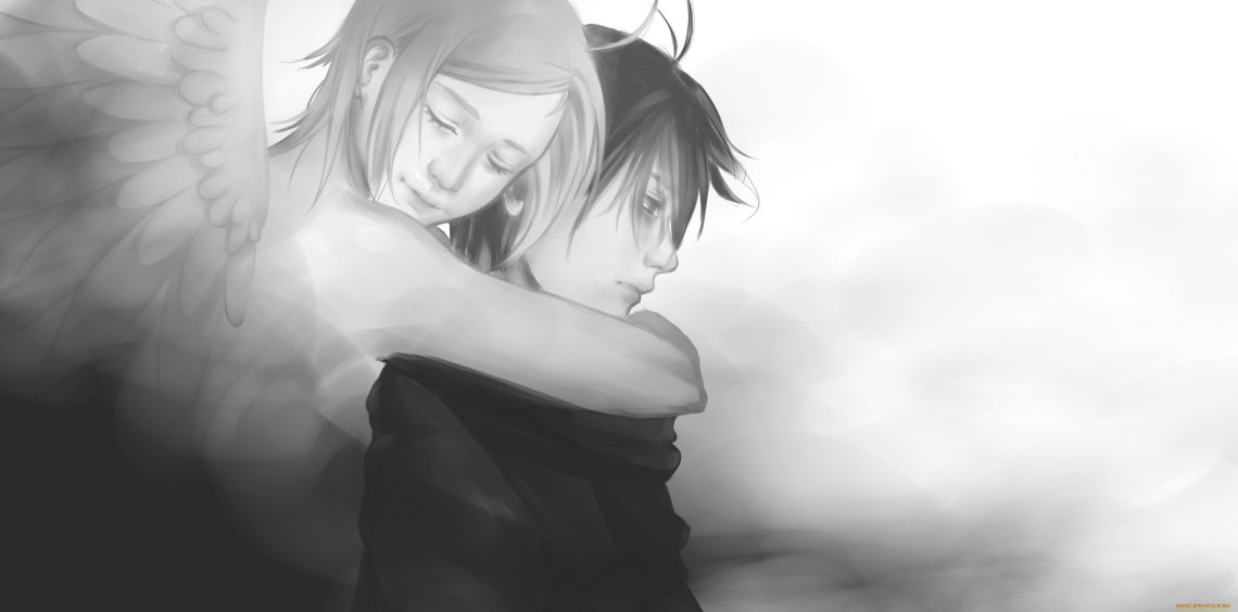 Cute Anime Fantasy Couple Wing Angel Boy Girl Wallpaper 3004x1488 913278 Wallpaperup