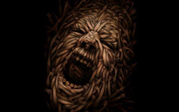 Dark Evil Psychedelic Art