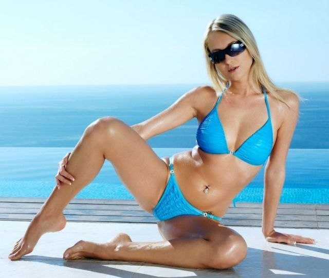 Blonde Bikini Model Wallpaper