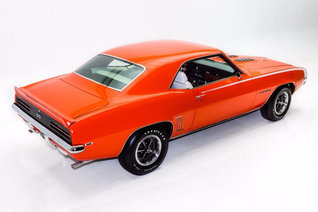 1969 Chevrolet Camaro Rs Ss 396 Cars Convertible Orange Wallpaper