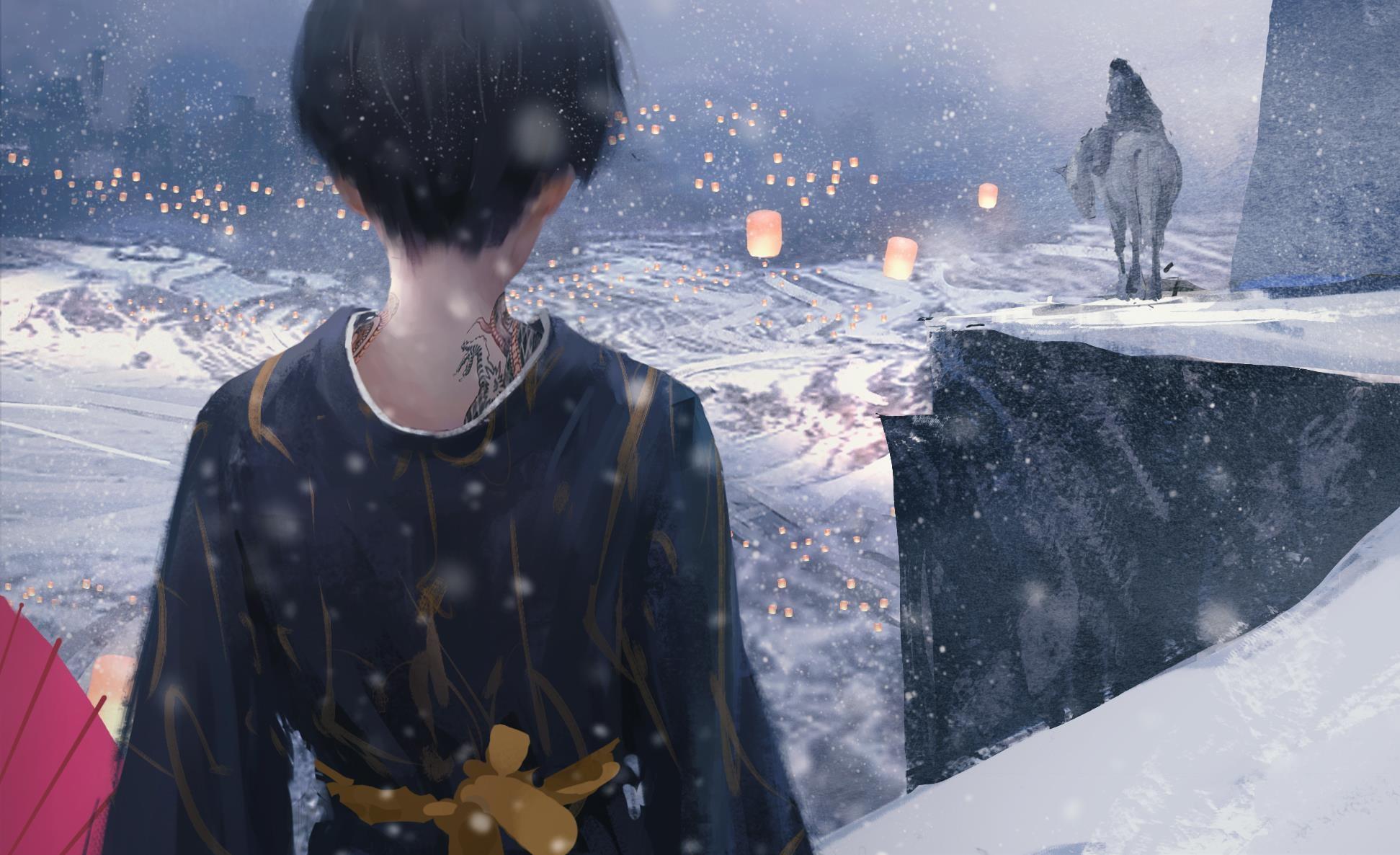 Download Sad Girl In Snow Wallpaper Wlop Oiginal Girl Woman Beautiful Fantasy Art Tattoo