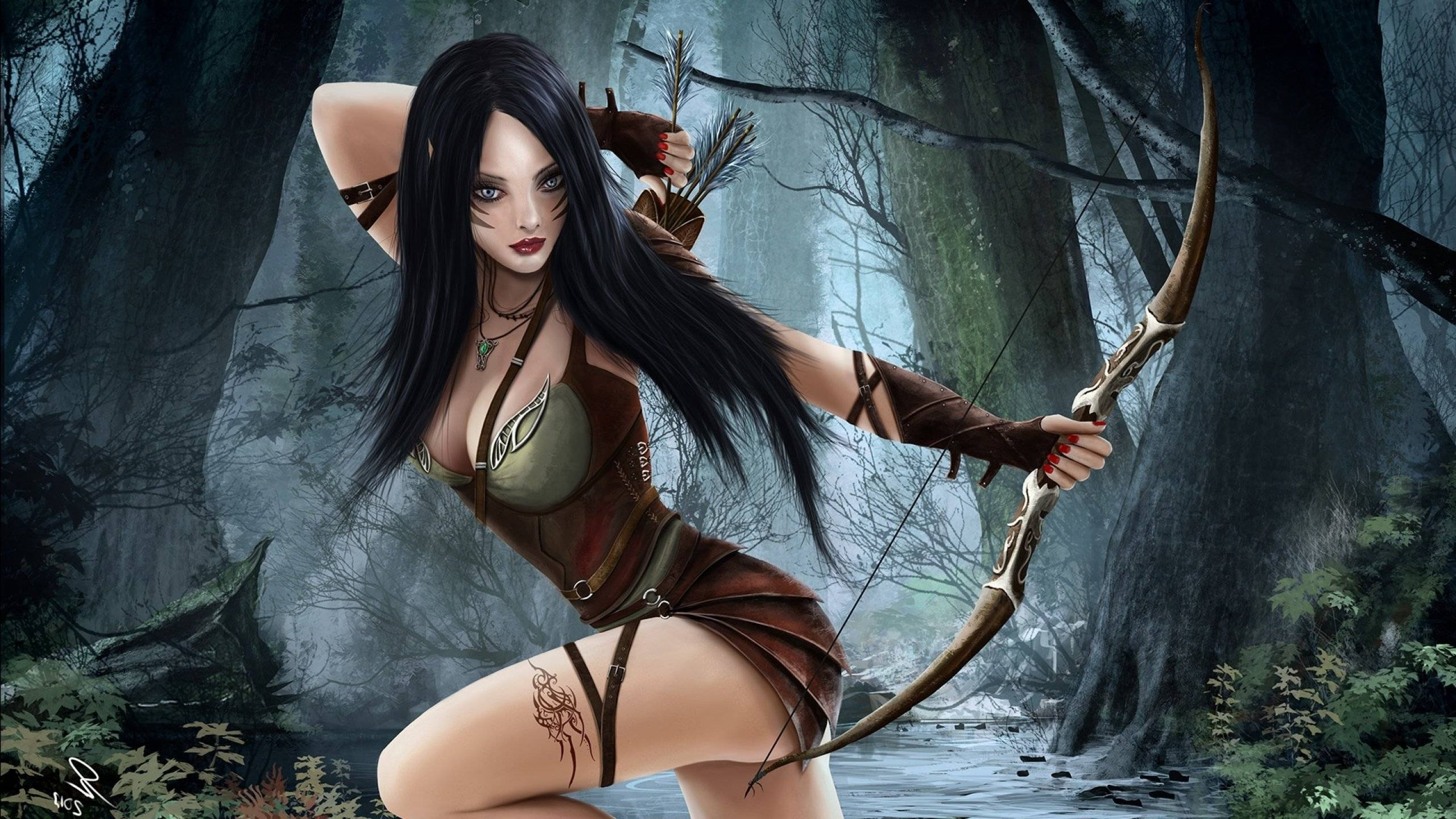 Jpg Wallpaper Girl Fantasy Woman Warrior Girl Beautiful Long Hair Wallpaper