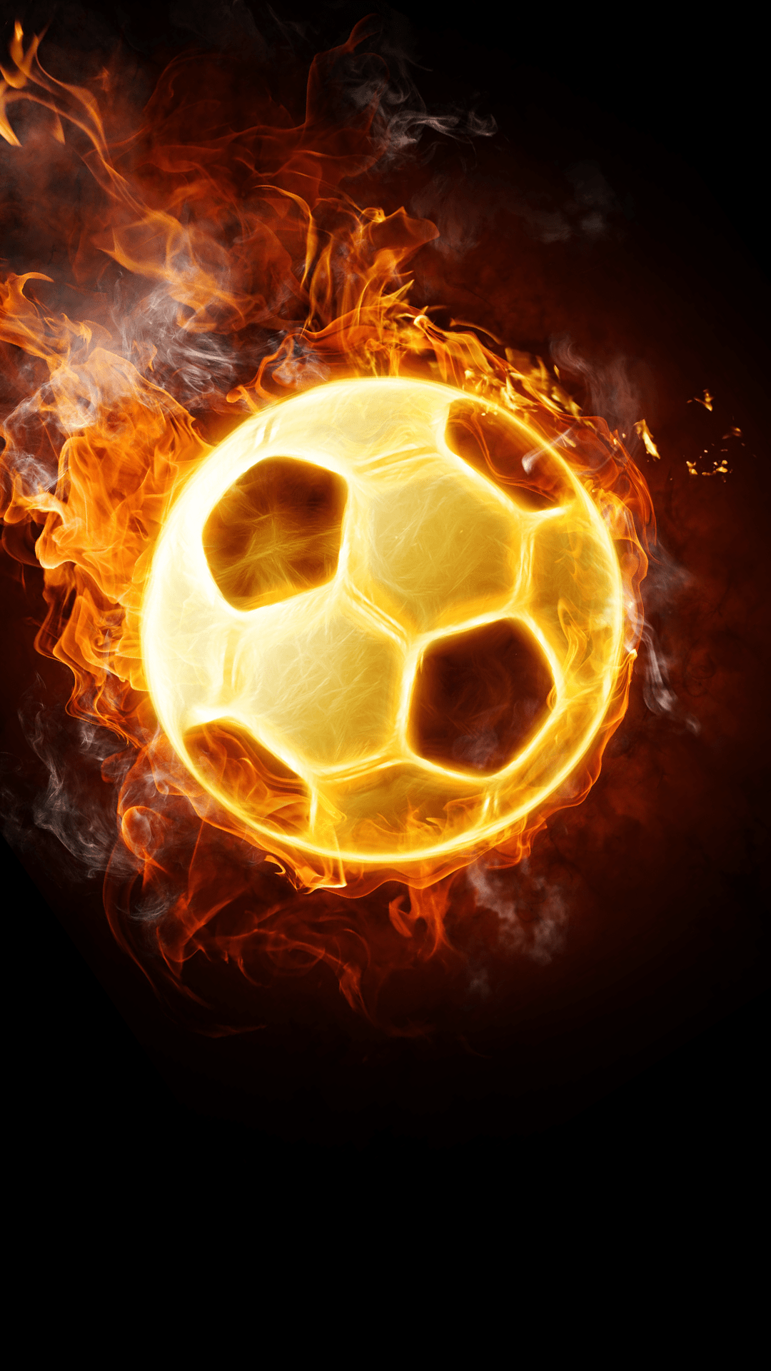 Iphone X Full Screen Wallpaper Ultra Hd Flaming Football Wallpaper For Your Mobile Phone