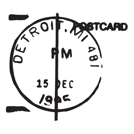 Detroit MI Postmark Wall Quotes™ Wall Art Decal